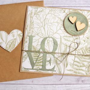 love : kartka ślubna, miłosna : nature lovers