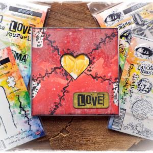 Love - kartka walentynkowa