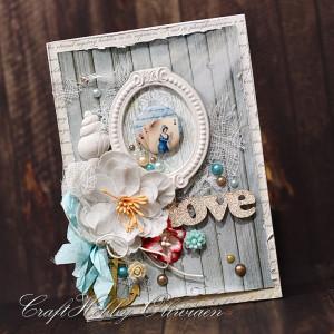 Love - w stylu vintage marine