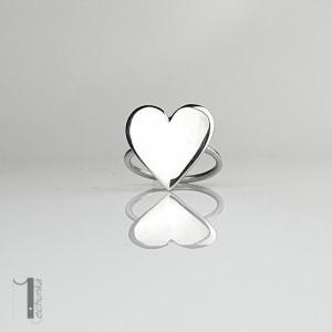 LoveStory - srebrny pierścionek serce Cena 0