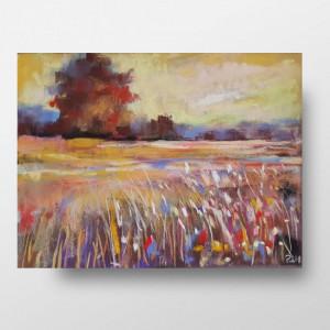 Magiczna łąka II -praca wykonana pastelami
