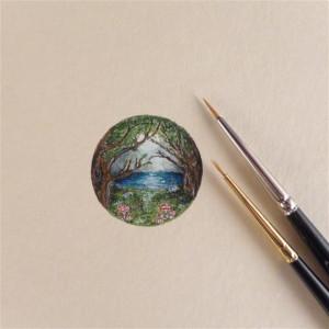 Magiczny las, miniatura, obrazek