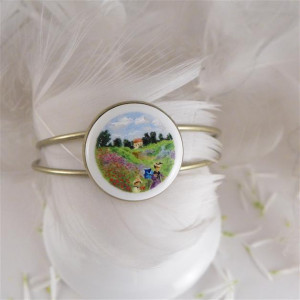 Maki, Claude Monet, Porcelanowa bransoletka