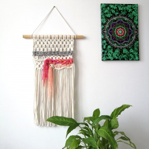 Makrama, makatka dekoracja ścienna w stylu boho