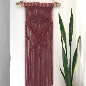 Makrama lotos, styl boho, ekodekor