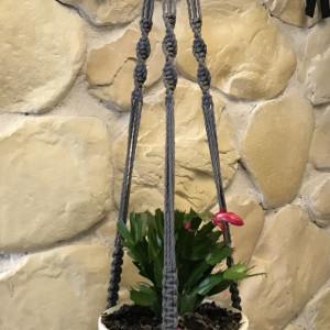Makrama na rośliny doniczkowe kwietnik wiszący