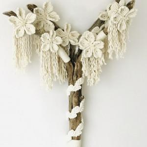 Makrama na ścianę unikalna boho dekoracja