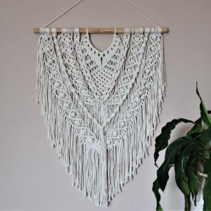 Makrama ze sznurka bawełnianego ecru
