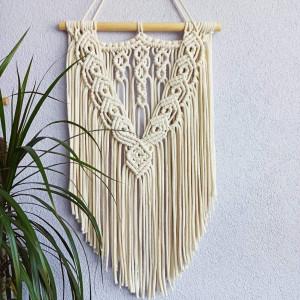 Makrama ze sznurka bawełniannego