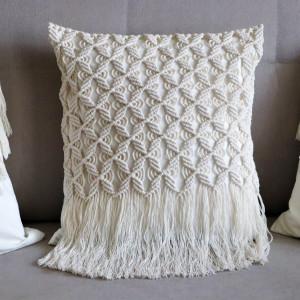 Makramowa poszewka na poduszkę w stylu BOHO