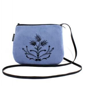 Mała niebieska torebka damska Czarny Krzew