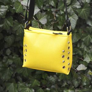 Mała torebka filcowa - żółta