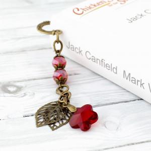 Mała zakładka do książki - kryształowy kwiat