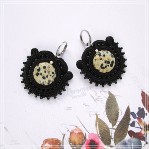 Małe czarne - kolczyki z jaspisem