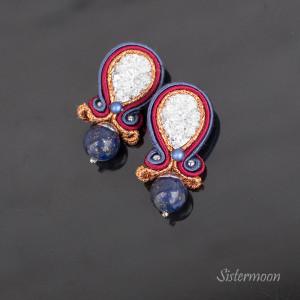 Małe kolczyki sutasz Lapis Lazuli