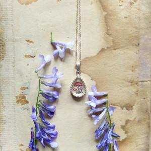 Maleńkie muchomory, ręcznie malowany, srebro 925