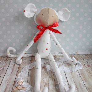 Małpka Tilda biała przytulanka GOTOWA