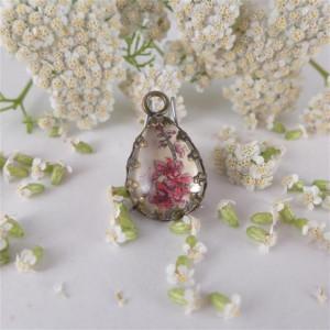 Malutkie kwiaty wiśni, naszyjnik ręcznie malowany