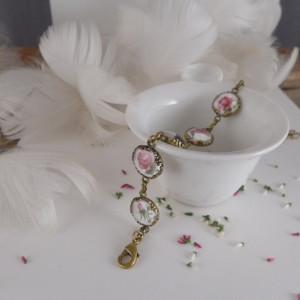 Malutkie róże, Ręcznie malowana bransoletka