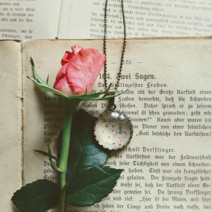 Mały Książę, miniatura, naszyjnik malowany