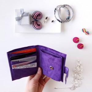 Mały portfel fiolet
