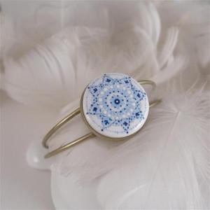 Mandala 7, Bransoletka , malowana porcelana