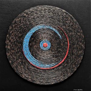 Mandala Tarcza - asamblaż/płaskorzeźba