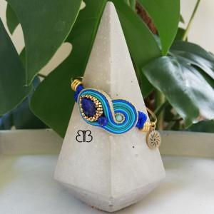 Maroko - bransoletka bangle sutasz z lapis lazuli