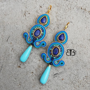Maroko - kolczyki sutasz z lapis lazuli