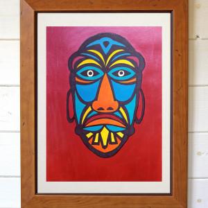Maska, oryginalny obraz akrylowy