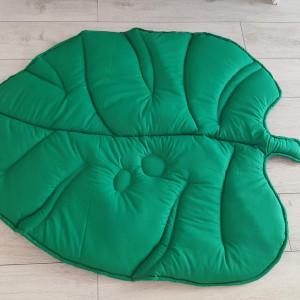 Mata do zabawy liść zielona