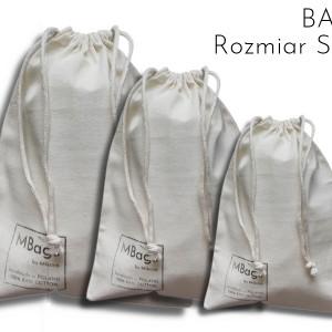 MBags Woreczki do żywności bawełna POLSKIE 3sztSML