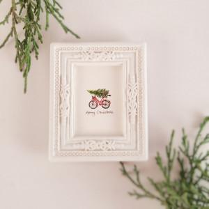 Merry Christmas! choinka,  świateczny rower