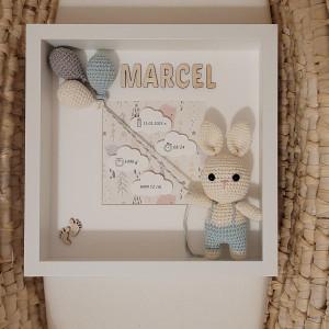 Metryczka narodzin dziecka króliczek chłopiec