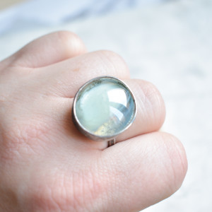 Mgła - pierścionek ze szkłem