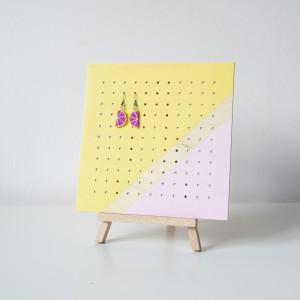 MIDI KWADRAT pastela stojący organizer na kolczyki
