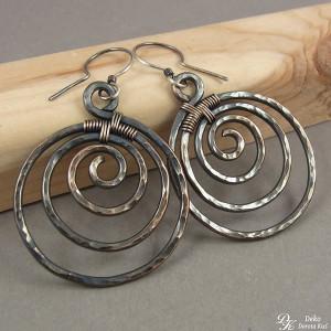 Miedziane spiralki - kolczyki