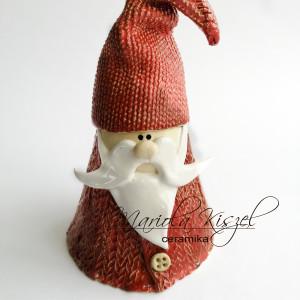 Mikołaj w sweterku ceramiczny ozdoba świąteczna