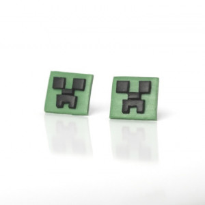 Minecraft Creeper - maleńkie kolczyki wkrętki