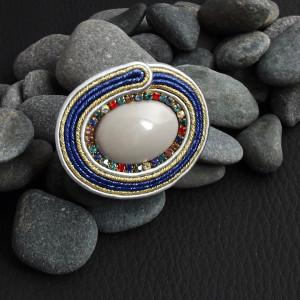 Ming 2  regulowany sutaszowy pierścien