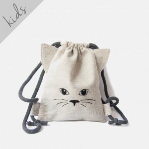 Mini plecaczek kotek w jodełkę