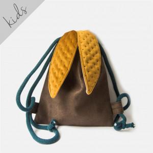 Mini plecak brązowy króliczek z miodowymi uszami