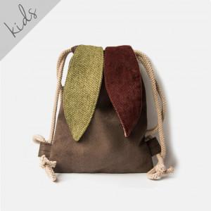 Mini plecak króliczek z uszami w jodełkę