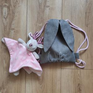 Mini plecak królik z imieniem Wiki