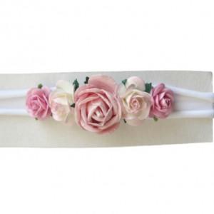 mini wianek opaska kwiaty róż nie uciska