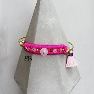 Minimalistyczna bransoletka - pink and gold