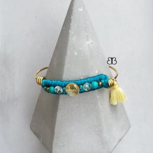 Minimalistyczna bransoletka - turquoise and yellow