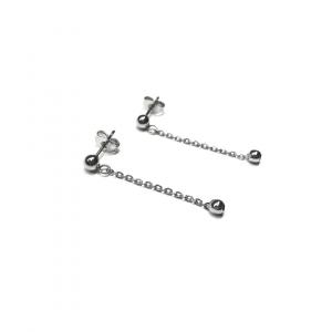 Minimalistyczne kolczyki łańcuszki z kuleczką