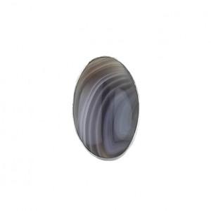 Minimalistyczny pierścionek srebro agat