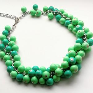 Mint -  Naszyjnik z listków masy perłowej i szkła